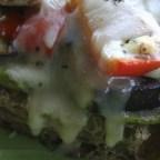Vegetarian Open Faced Sandwich