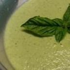 Zucchini Gazpacho with Basil Cream