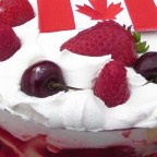 Canada Day Three Berry Trifle