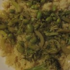 Indian Curry Couscous with Broccoli and Edamame