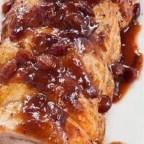 Roast Pork with Cranberry Glaze