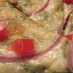 Spinach and Artichoke Tortilla Pizza