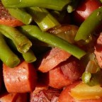 Amy's Po' Man Green Beans and Sausage Dish