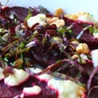 Roasted Beets with Goat Cheese and Walnuts