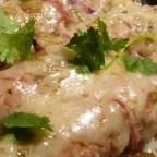 Easy Green Chile Chicken Enchiladas