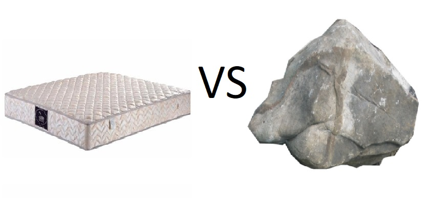 chinese mattress vs Rock