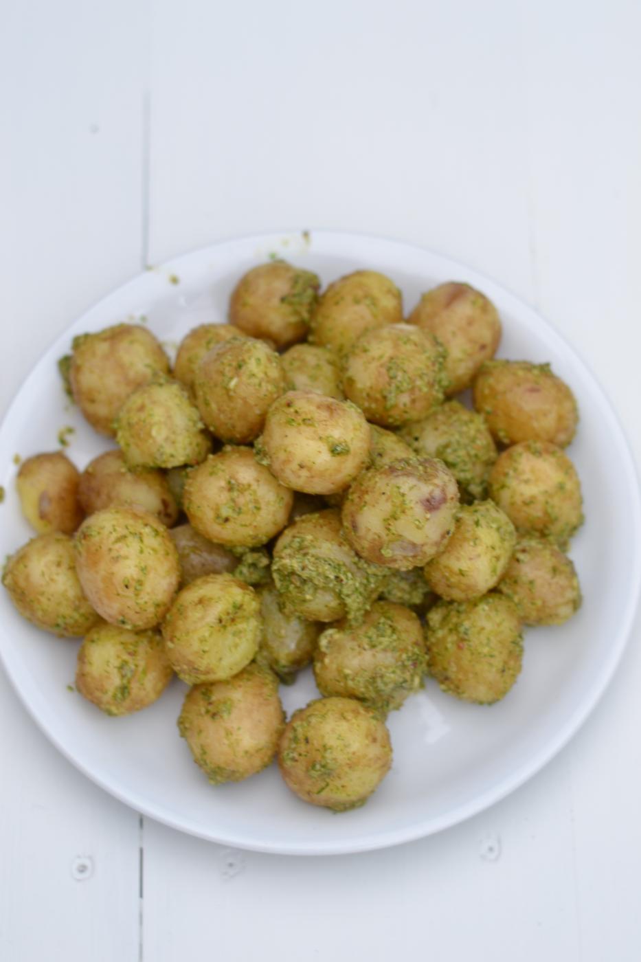 Tillipesto ja uudet perunat