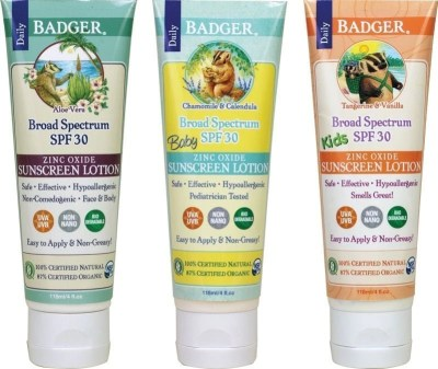 Badger sunscreen