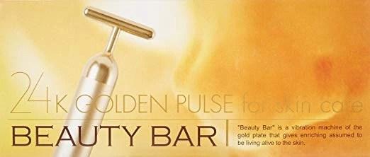Beauty Bar 24k Golden Pulse Facial Massager - A-Lifestyle