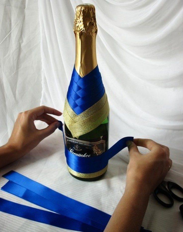 Esküvői fellendülés folytatódik. Esküvői pezsgő dekorációja. 1. rész, Photo № 31