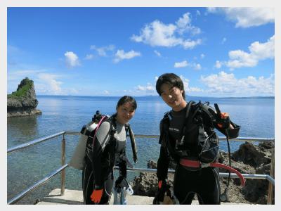 沖縄体験ダイビング|いよいよ海へ