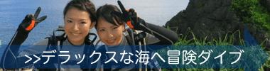 沖縄体験ダイビング|冒険気分を味わえる