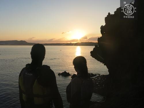 沖縄青の洞窟シュノーケル★リピーターNさんファミリー
