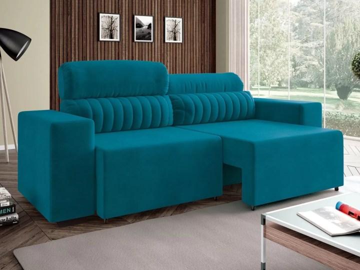 Sofá Retrátil E Reclinável 4 Lugares Revestimento Suede Elite Style Linoforte Magazine Luiza