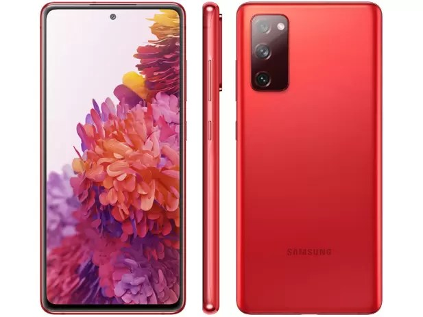 "Smartphone Samsung Galaxy S20 FE 128GB Cloud Red - 6GB RAM Tela 6,5"" Câm.  Tripla + Selfie 32MP - Galaxy S20 FE - Magazine Luiza"