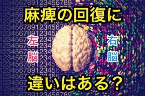 右脳左脳麻痺回復