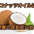 ココナッツオイル認知症