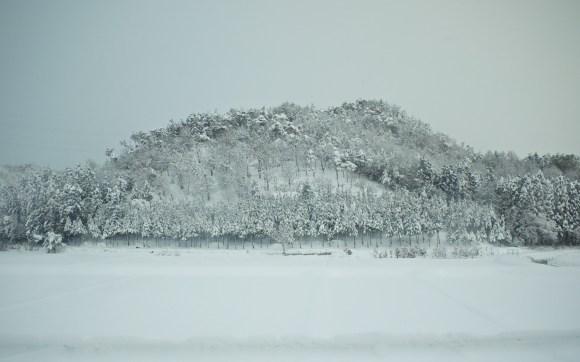 山が雪化粧