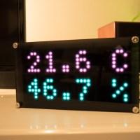 Raspberry Pi で LED時計を作ってみた その6 〜温度湿度を音声操作で表示の触り