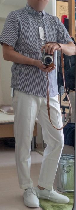 白パンツが爽やか!