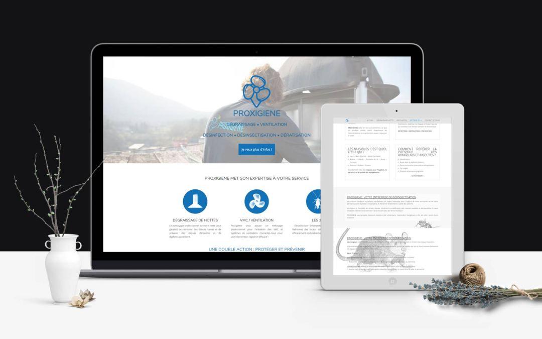 Création d'un site web et illustrations pour une entreprise de dégraissage et désinsectisation