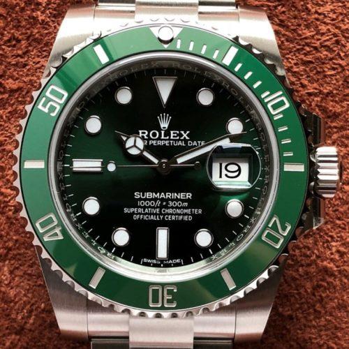 ロレックス サブマリーナ 116610lv グリーン(緑)未使用 名古屋