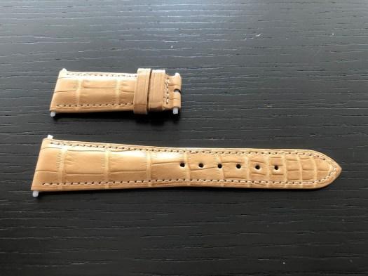 パテックフィリップ(PATEK PHILIPPE)純正 レザー(革)ベルト 21×16mm Dバックル用 未使用1-01