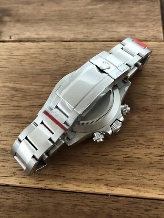 ロレックス(ROLEX)デイトナ 116500LN ブラック(黒) 未使用 保護シール バックル側から 中古 名古屋