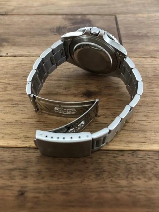 ロレックス GMTマスター2 16760 94番台 ブラック(黒)ファットレディ 中古 クラスプ側から 名古屋