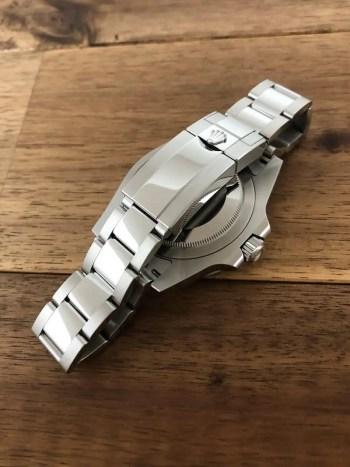 ロレックス GMTマスター2 126710BLRO ブラック(黒) オイスターブレス 未使用 新作 バックル側から 名古屋