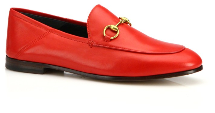 GUCCI | Brixton Foldable Leather Loafers | Saks  here)