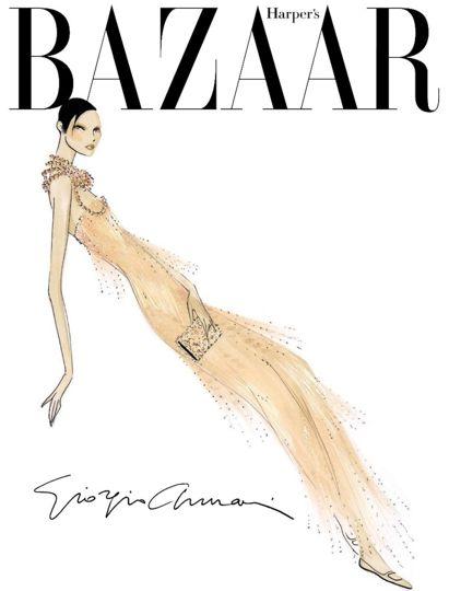 Harper's Bazaar Russia 15th Anniversary Edition | Giorgio Armani Cover | November 2011