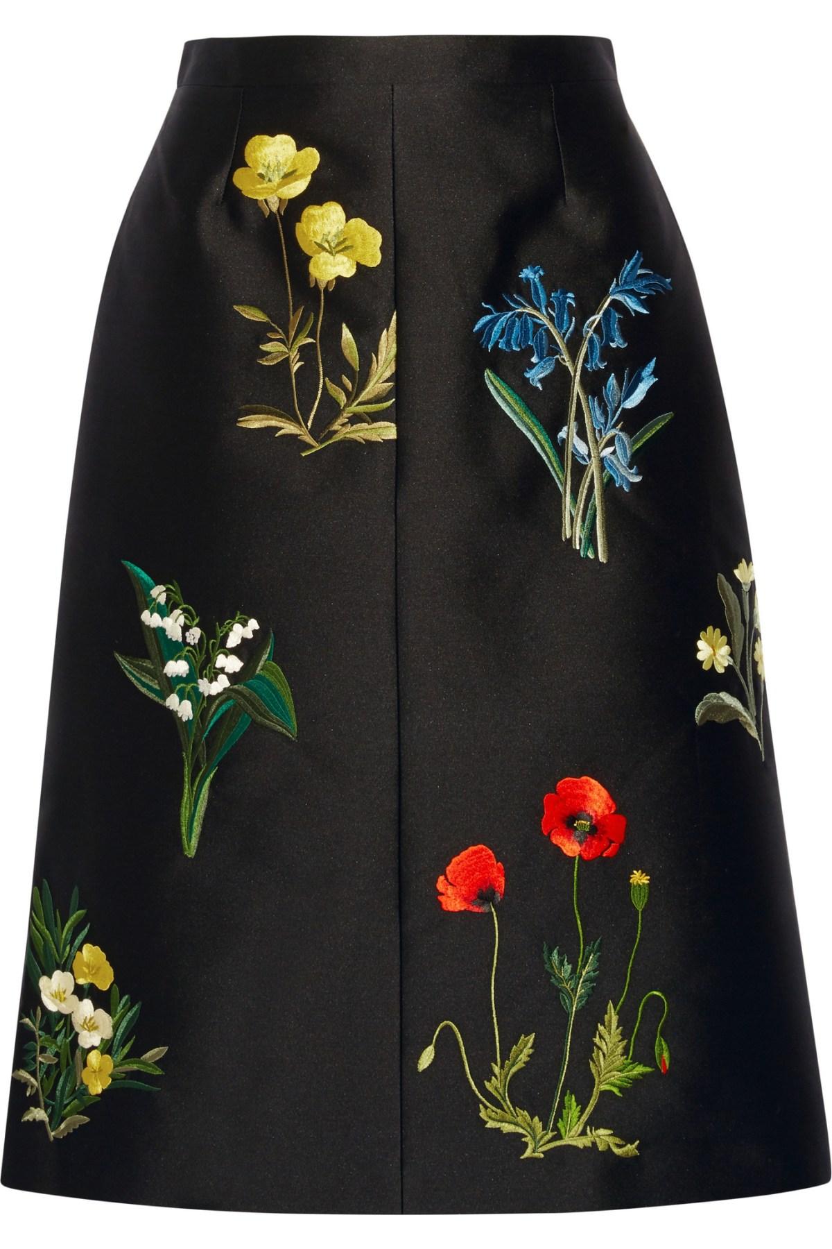 Stella McCartney | 'Renee' Embroidered Midi Skirt | Net-A-Porter
