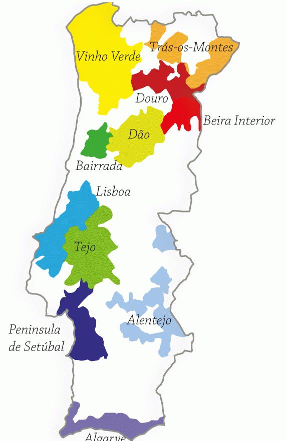 Portugal Wine Map   Vinum Vine