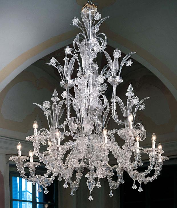 Large Murano Ca Rezzonico Chandelier | Murano Imports | Photo via House and Home