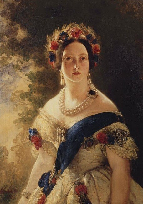 Queen Victoria, Winterhalter, 1845. Photo: Royal Collection © Her Majesty Queen Elizabeth II.