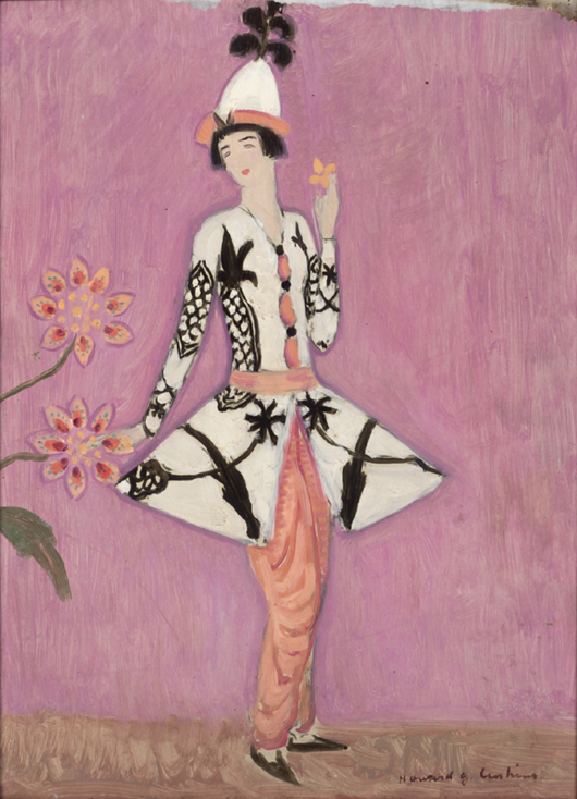 Howard Gardiner Cushing, 'Portrait of Gertrude Vanderbilt Whitney' in Leon Bakst costume.