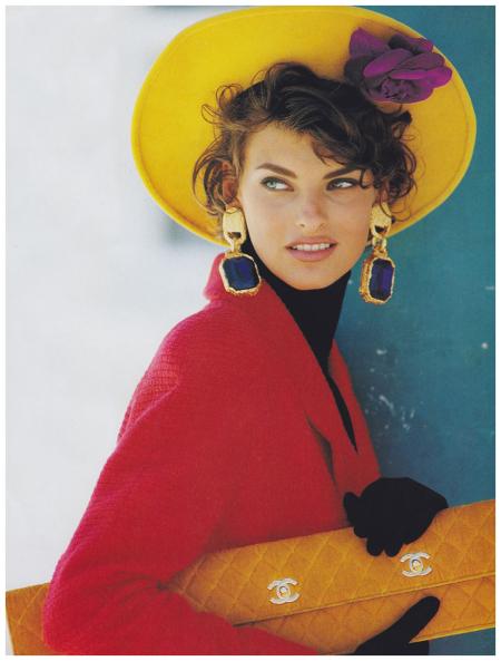 Linda Evangelista Vogue, September 1990 Photo Patrick Demarchelier