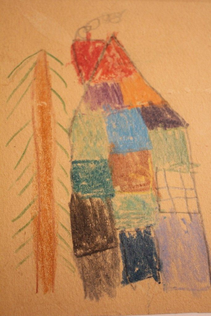 The Patchwork House, drawing by Sam