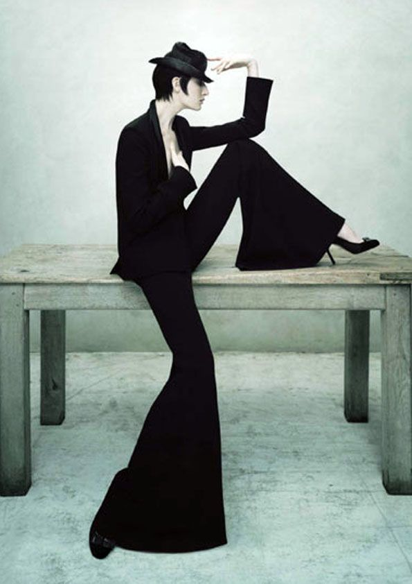 Model: Erin O'Connor; Photo: Jean-Baptiste Mondino