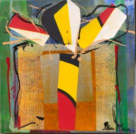 Image result for present with a bow abstract painting