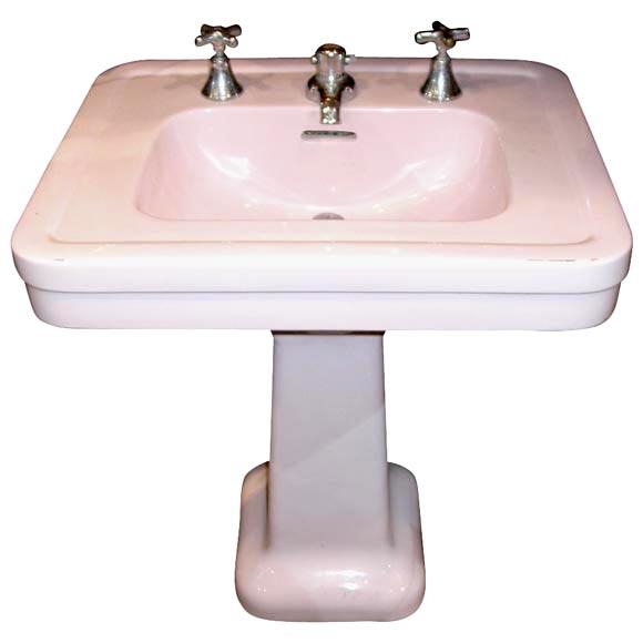 pink pedestal sink