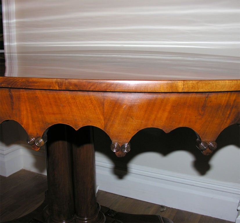 Neo Gothic Design Oval Center Table At 1stdibs
