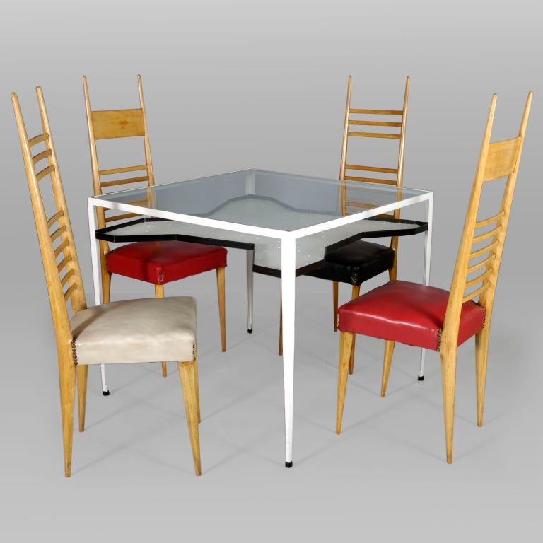 Important Dining Table With 8 Chairs By Giovanni Ferrabini