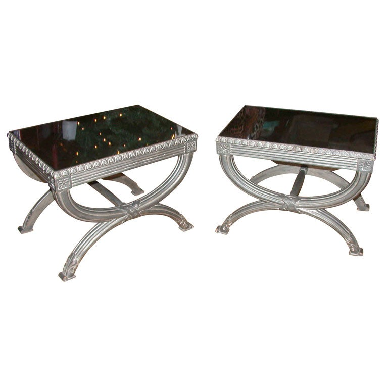 Pair Of Neoclassic Tables At 1stdibs