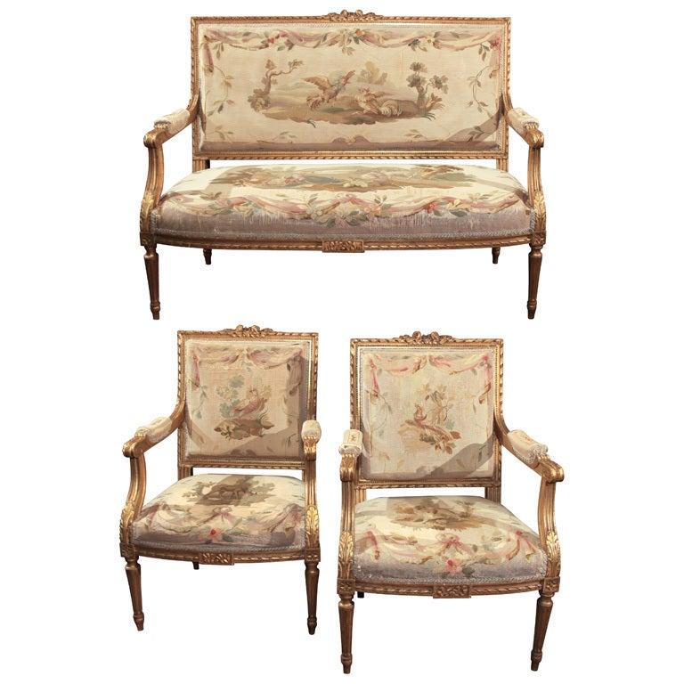 Louis XVI Style Salon Set At 1stdibs