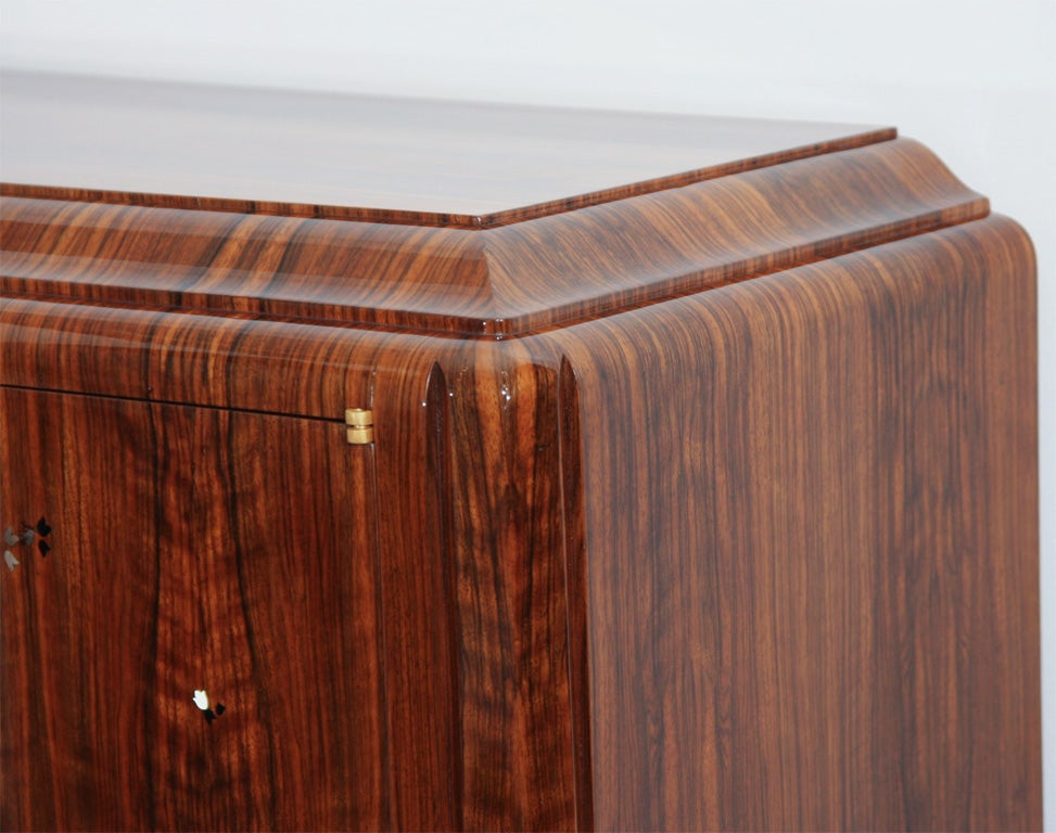 Fine Cabinet By Jules Leleu Inlaid With Mother Of Pearl