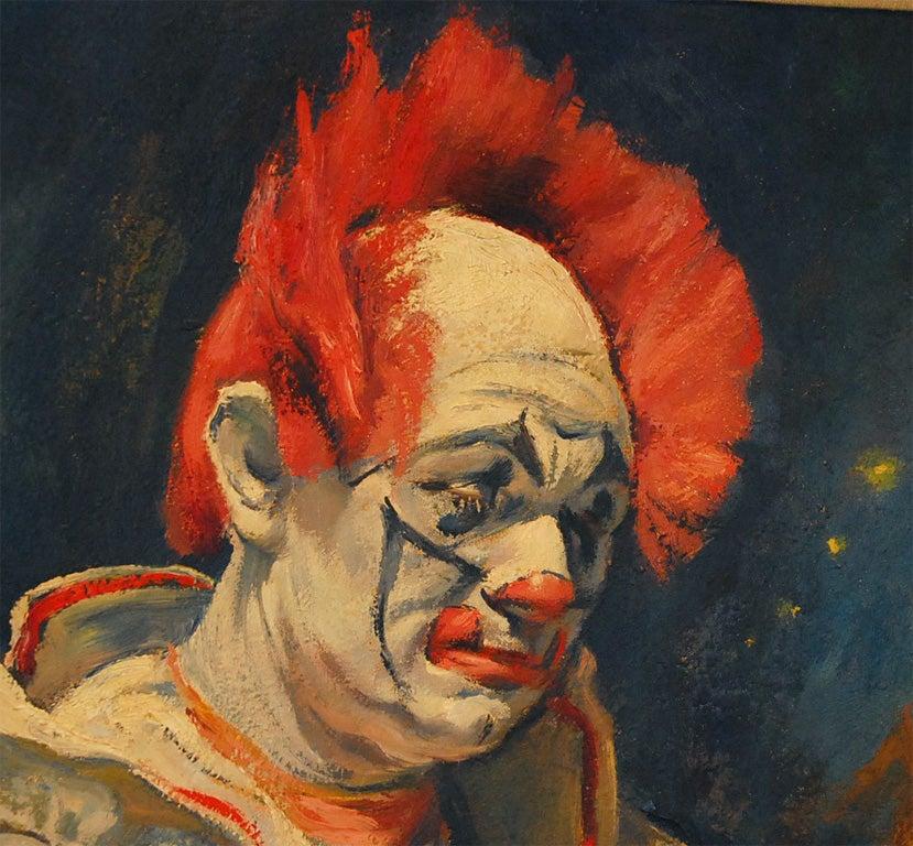 Emil Kosa Jr Clown Oil Painting On Canvas At 1stdibs