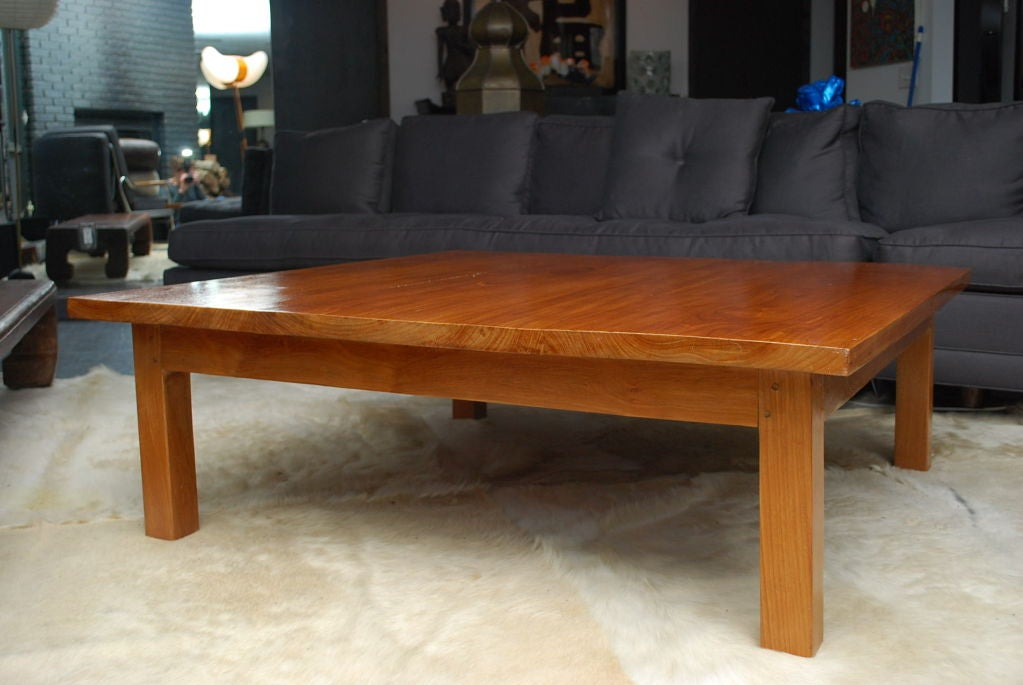 Teak Wood Square Coffee Table For Sale At 1stdibs