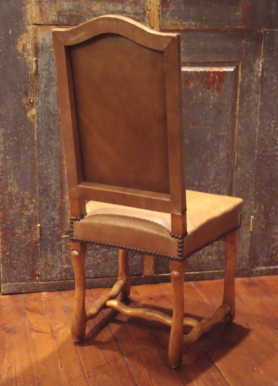 Set Of 8 Louis IV Style Leather Dining Chairs For Sale At